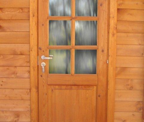 Bungalow in legno 4x5 (44mm)_porta singola impregnato
