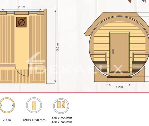 Sauna-botte SILVIA STANDARD