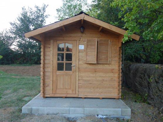Casetta in legno 2,5X2,5 - Porta singola e finestra impregnata