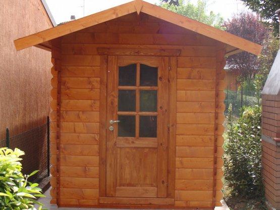 casetta in legno porta singola