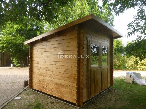 Casetta in legno 2,5x2,5 (34mm)_porta doppia MONOFALDA